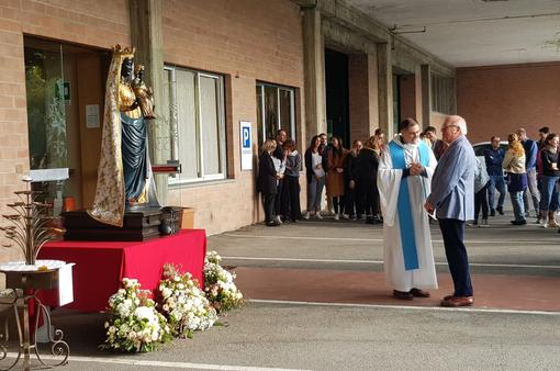 La Madonna Nera ospitata dal Lanificio Piacenza FOTO