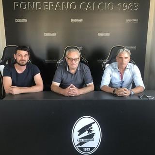 Il nuovo D.S. con il presidente Rosso e mister Fiorini