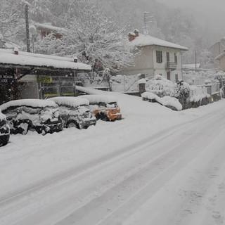 La neve a Pettinengo nella giornata di ieri, 4 dicembre