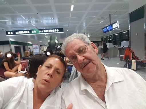 Angela Micheletti con il marito Alain Onesti