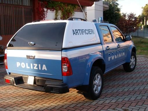 Un precedente intervento nel Biellese del nucleo artificieri della Polizia