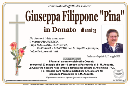"Giuaseppina Filippone ""Pina"" in Donato"
