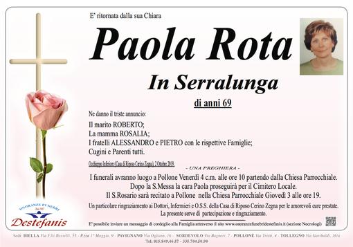 Paola Rota in Serralunga