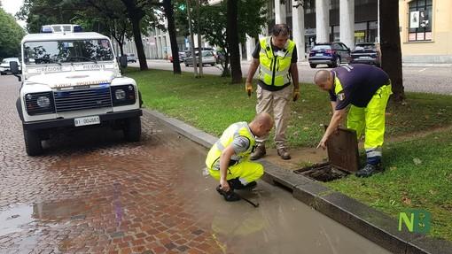 Biella: Volontari della Protezione Civile Comunale monitorano le strade