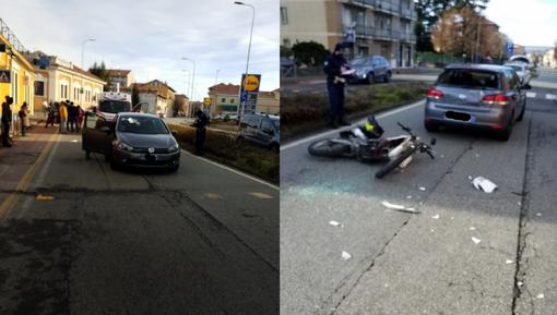 Incidente in via Ivrea tra una Golf e un ciclomotore. Ferito un ragazzo minorenne