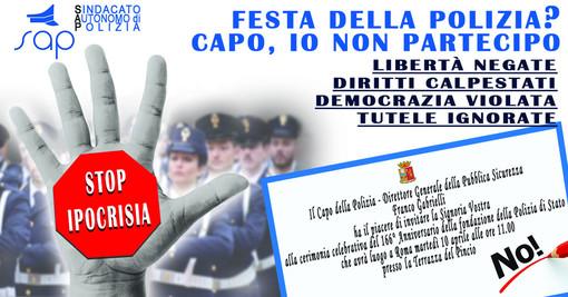 Il Sindacato Autonomo Sap non sarà alla Festa della Polizia