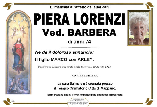 Piera Lorenzi ved. Barbera