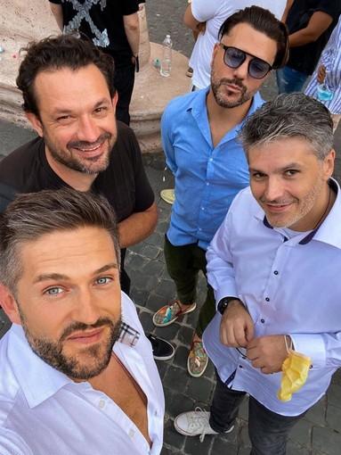 Filippo REgis Con  Alessandro Imarisio (AD di Clubbers), Galli (proprietario del Cocorico') e Federico Kay (front man dell'Ushuaia di Ibiza)