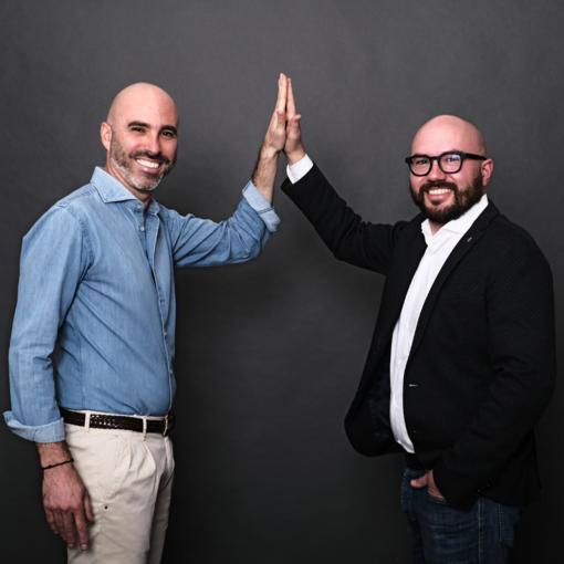 I due imprenditori in una foto scattata prima dell'attuale emergenza sanitaria