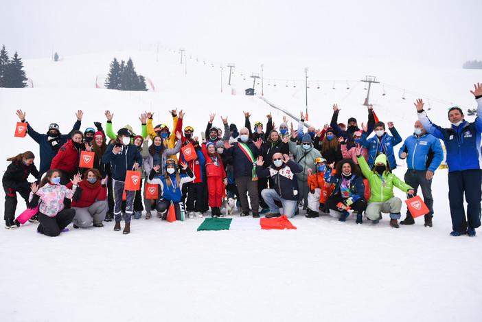 Sci e snowboard, a Bielmonte 42 atleti sordi da tutta Italia con i campionati di SciaLis FOTO