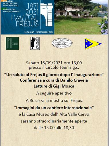 'Un saluto al Frejus il giorno dopo l'inaugurazione', un nuovo evento per scoprire legami con la nostra  terra