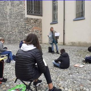 Biella, alla San Francesco la scuola si fa all'aperto