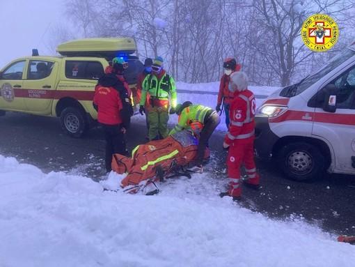 Scialpinista recuperato dal Soccorso alpino speleologico piemontese in una recente operazione