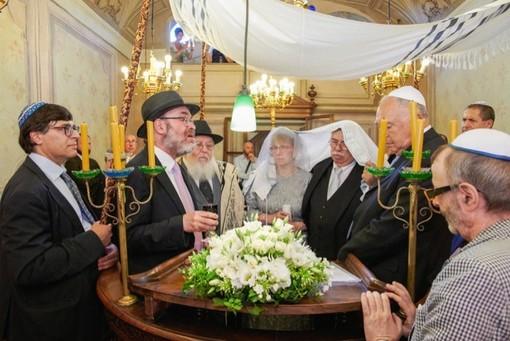 Dopo 49 anni, celebrato un matrimonio alla Sinagoga del Piazzo