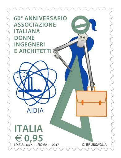 Emesso francobollo per i 60 anni dell'Associazione Italiana Donne Ingegneri e Architetti