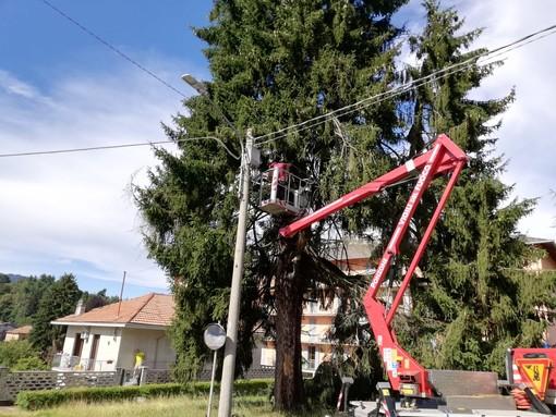 L'intervento dei Vigili del Fuoco del distaccamento volontario di Ponzone a Valdilana
